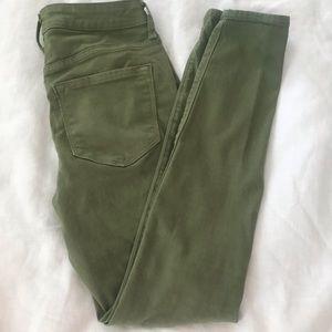Olive green Rockstar jeans